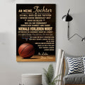 (cv822) LHD basketball poster - Dad to Daughter - never lose German vs