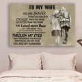 (cv1139) LHD Family poster - To my wife - You are braver