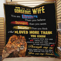 (QL720) LHD Lion quilt - To my wife - You are braver