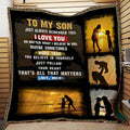 (QL721) LHD Family quilt - Mom to Son - Always remember