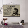 (cv899) LION CANVAS WITH THE WOOD FRAME - TO MY WIFE, YOU ARE BRAVER