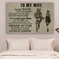 (cv932) QH soldier Poster - to wife - you are my sunshine vs1