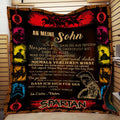 (QL703) LDA Spartan quilt - Dad to Son - Never lose Ger