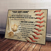 (CT204) Baseball poster - to my son never lose love dad