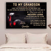 (cv886) LHD boxing poster - grandpa to grandon - never lose