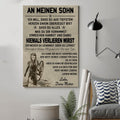 (cv1112) LHD Viking poster - Mom to son - Never lose Gr