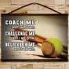(CV449) Baseball canvas with the wood frame - Coach me