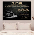 (cv875) LHD boxing poster - Mom to Son - never lose