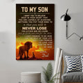 (cv1120) LHD Lion poster - Dad to son - Never lose