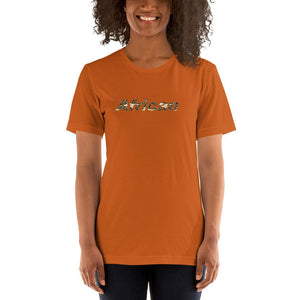 African Print Color Short-Sleeve Unisex T-Shirt YaYa+Rule