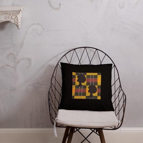 Afro African Print Square Pillow YaYa+Rule