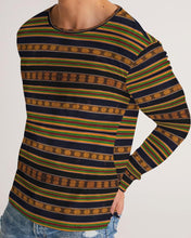 Load image into Gallery viewer, Black Kente African Print Men's Long Sleeve Tee YaYa+Rule
