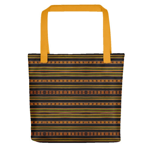 Black Kente African Print Tote bag YaYa+Rule