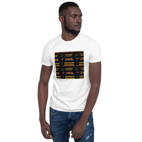 Black Power Kente Short-Sleeve Unisex T-Shirt YaYa+Rule