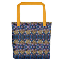 Load image into Gallery viewer, Blue Gold African Print Tote bag YaYa+Rule