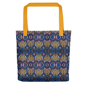 Blue Gold African Print Tote bag YaYa+Rule