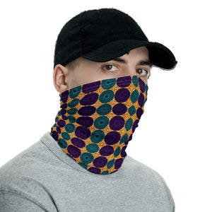 Blue Purple African Print Neck Gaiter YaYa+Rule