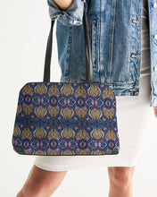 Load image into Gallery viewer, Blue Purple African Print Shoulder Bag YaYa+Rule
