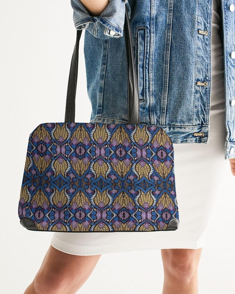 Blue Purple African Print Shoulder Bag YaYa+Rule