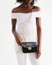 Load image into Gallery viewer, Blue Purple African Print Small Shoulder Bag Small Shoulder Bag YaYa+Rule