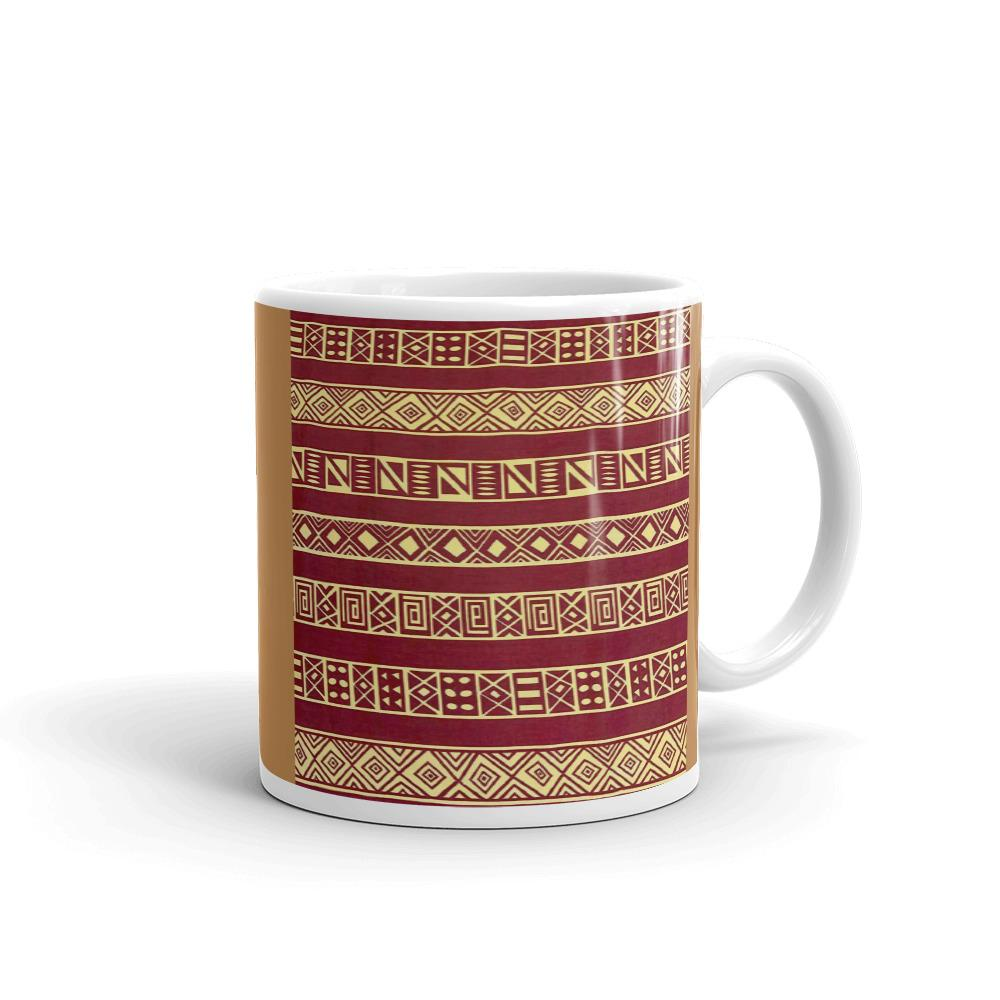 Brown African Print Mug YaYa+Rule