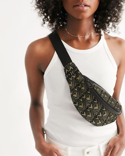 Brown Bogolan African Print Crossbody Sling Bag YaYa+Rule