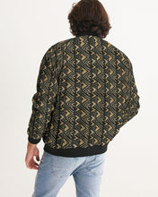 Load image into Gallery viewer, Brown Bogolan African Print Men's Bomber Jacket YaYa+Rule