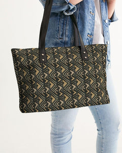 Brown Bogolan African Print Stylish Tote YaYa+Rule