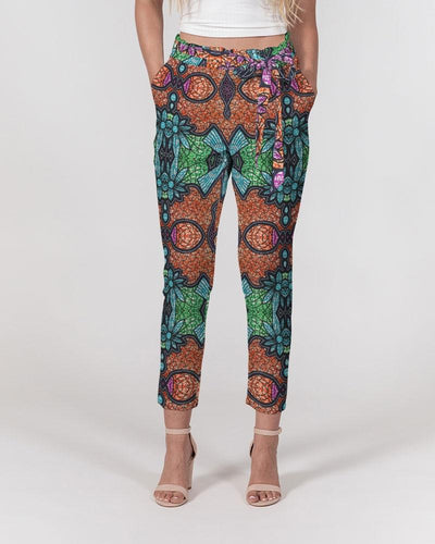 Fire African Print Women's Belted Tapered Pants YaYa+Rule