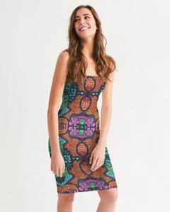 Fire African Print Women's Midi Bodycon Dress YaYa+Rule