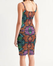 Load image into Gallery viewer, Fire African Print Women's Midi Bodycon Dress YaYa+Rule