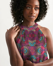 Load image into Gallery viewer, Fuschia African African Print Women's Halter Dress YaYa+Rule