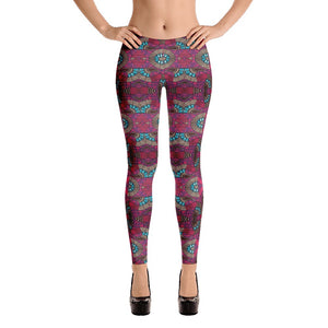 Fuschia African Print Leggings YaYa+Rule