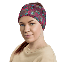 Load image into Gallery viewer, Fuschia African Print Neck Gaiter YaYa+Rule