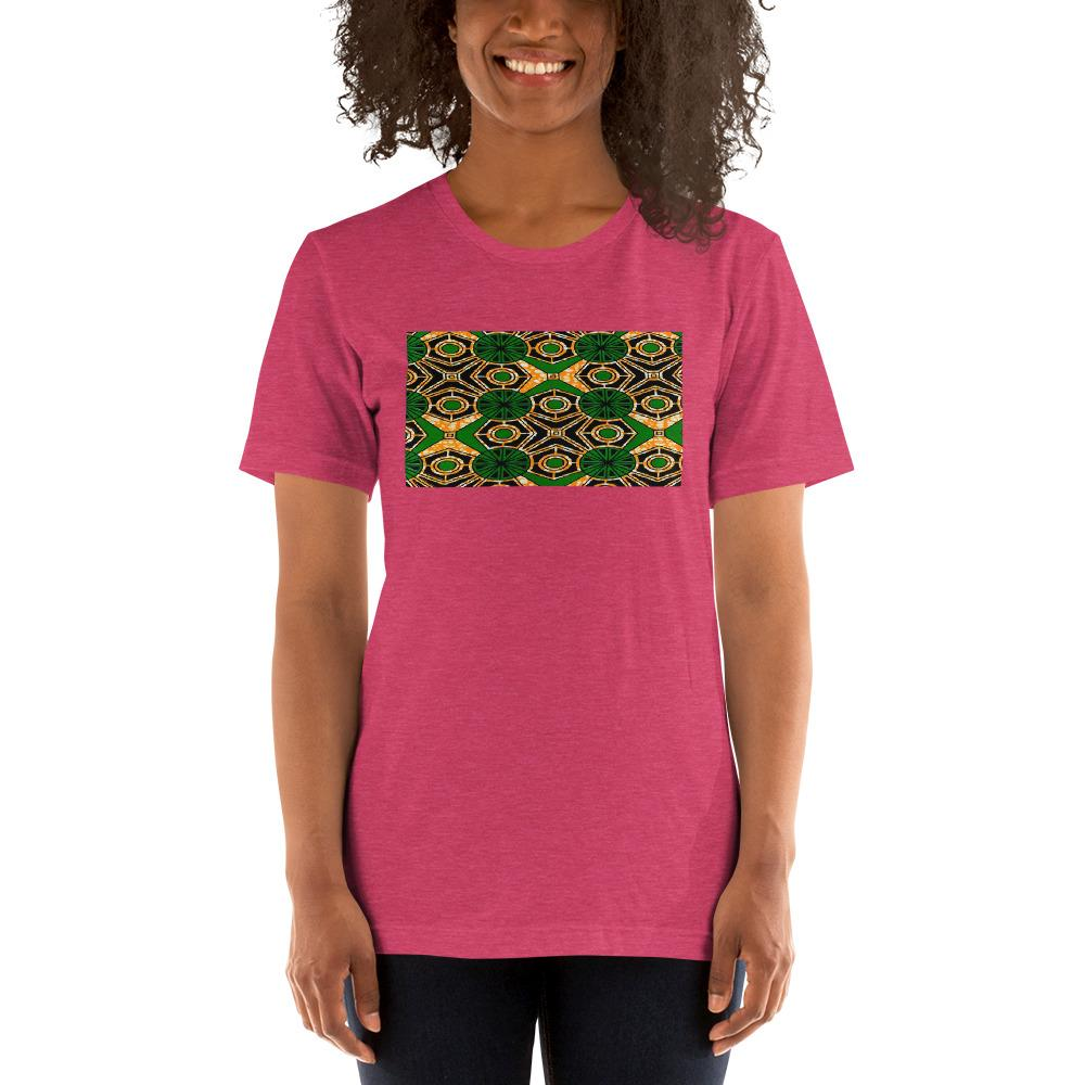 Green African Print Color Short-Sleeve Unisex T-Shirt YaYa+Rule