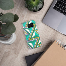 Load image into Gallery viewer, Green African Print Samsung Case YaYa+Rule