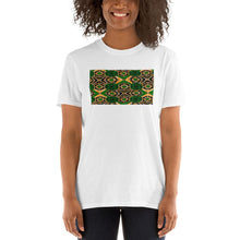Load image into Gallery viewer, Green African Print Short-Sleeve Unisex T-Shirt YaYa+Rule