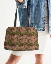 Load image into Gallery viewer, Green Brown Flower African print Shoulder Bag YaYa+Rule