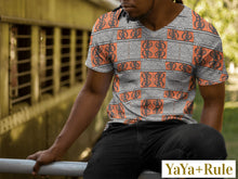 Load image into Gallery viewer, Gye Nyame African Print Men's T-shirt YaYa+Rule