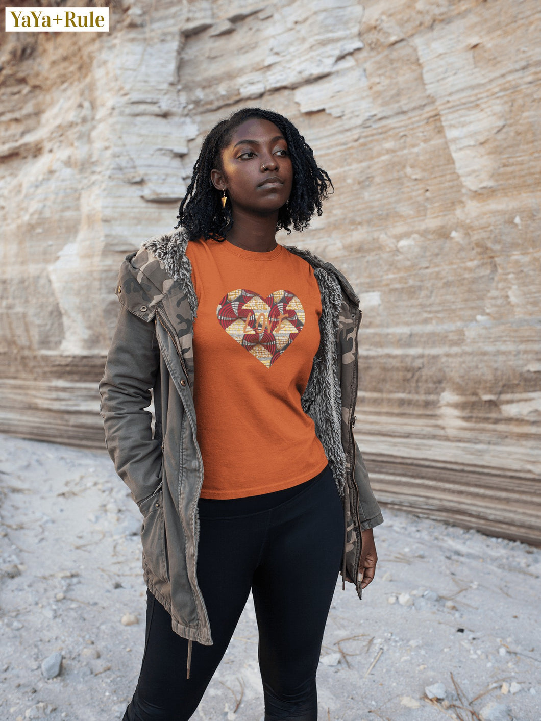 Heart African Color Print Short-Sleeve Unisex T-Shirt YaYa+Rule
