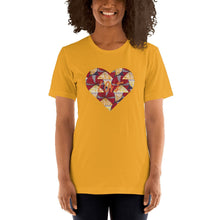Load image into Gallery viewer, Heart African Color Print Short-Sleeve Unisex T-Shirt YaYa+Rule