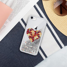 Load image into Gallery viewer, Heart African Print Liquid Glitter Phone Case YaYa+Rule