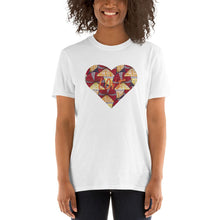 Load image into Gallery viewer, Heart African Print Short-Sleeve Unisex T-Shirt YaYa+Rule