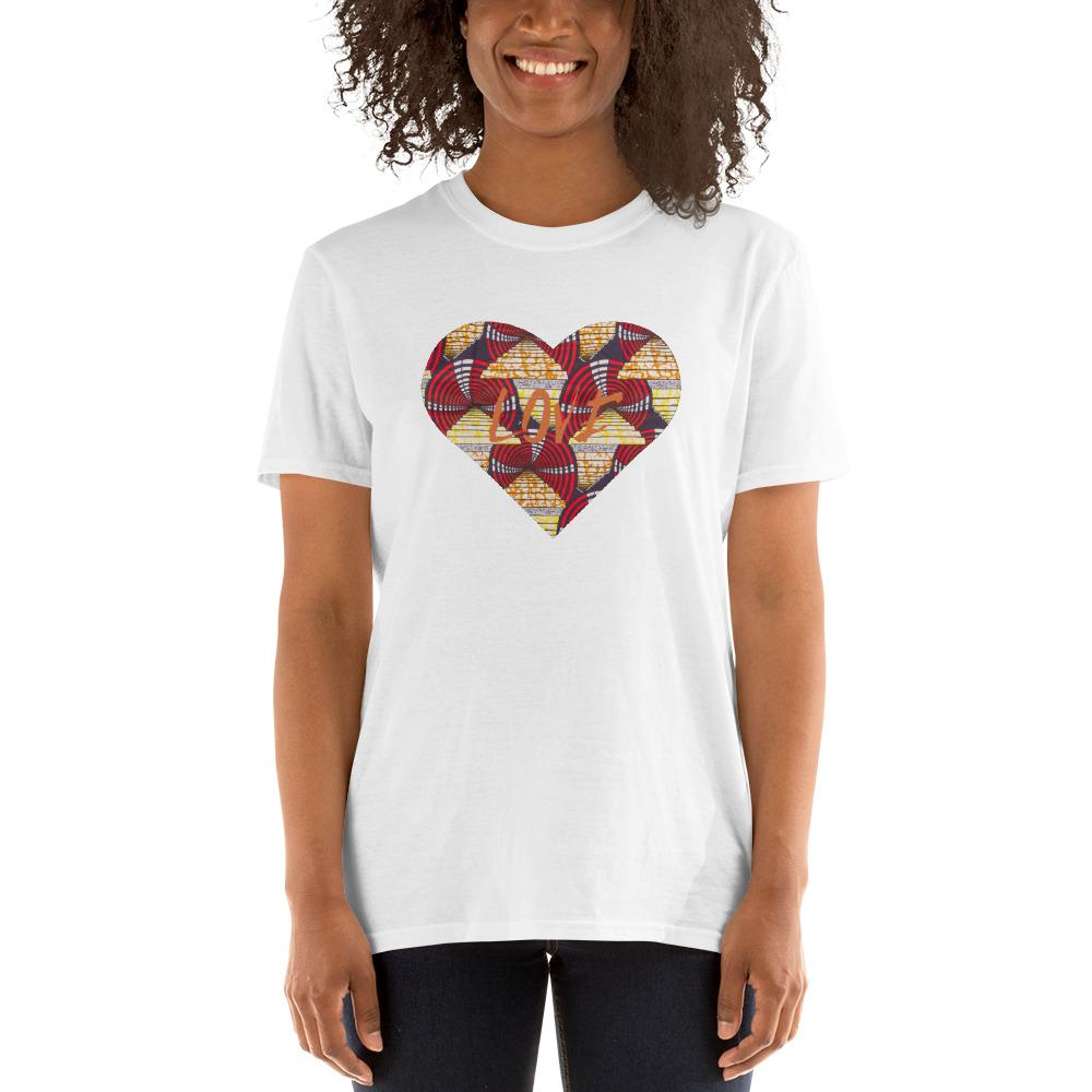 Heart African Print Short-Sleeve Unisex T-Shirt YaYa+Rule