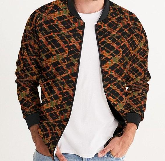 Kente Crossing African Print Men's Bomber Jacket YaYa+Rule