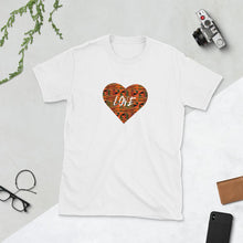 Load image into Gallery viewer, Kente Heart African Print Short-Sleeve Unisex T-Shirt YaYa+Rule
