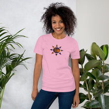 Load image into Gallery viewer, Kente Sun African Print Color Short-Sleeve Unisex T-Shirt YaYa+Rule