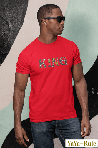 King African Print Color Short-Sleeve T-Shirt YaYa+Rule