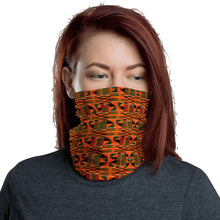 Load image into Gallery viewer, Orange Kente African Print Neck Gaiter YaYa+Rule