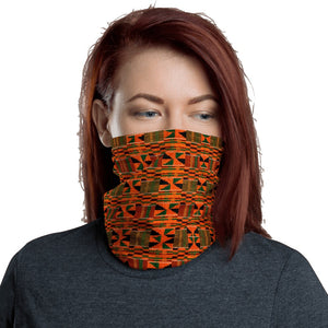 Orange Kente African Print Neck Gaiter YaYa+Rule